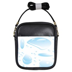 Water Drops Bubbel Rain Blue Circle Girls Sling Bags by Mariart