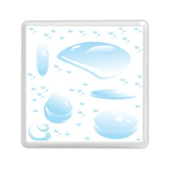 Water Drops Bubbel Rain Blue Circle Memory Card Reader (square)  by Mariart