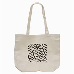 Wave Waves Chefron Line Grey White Tote Bag (cream) by Mariart