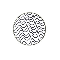 Wave Waves Chefron Line Grey White Hat Clip Ball Marker by Mariart