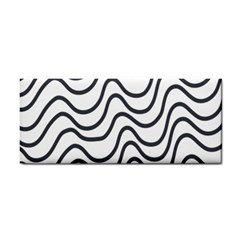 Wave Waves Chefron Line Grey White Cosmetic Storage Cases by Mariart
