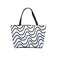 Wave Waves Chefron Line Grey White Shoulder Handbags by Mariart