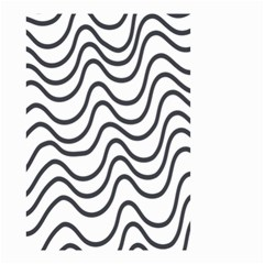 Wave Waves Chefron Line Grey White Small Garden Flag (two Sides) by Mariart