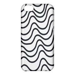 Wave Waves Chefron Line Grey White Apple Iphone 5c Hardshell Case by Mariart