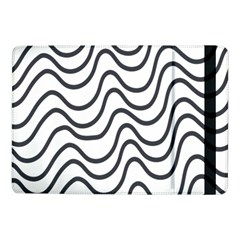 Wave Waves Chefron Line Grey White Samsung Galaxy Tab Pro 10 1  Flip Case by Mariart