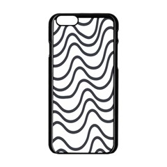 Wave Waves Chefron Line Grey White Apple Iphone 6/6s Black Enamel Case by Mariart
