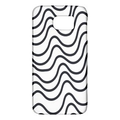 Wave Waves Chefron Line Grey White Galaxy S6 by Mariart