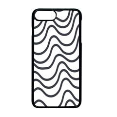 Wave Waves Chefron Line Grey White Apple Iphone 7 Plus Seamless Case (black) by Mariart