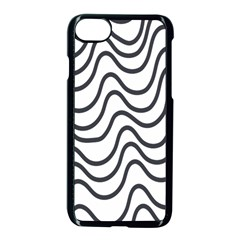 Wave Waves Chefron Line Grey White Apple Iphone 7 Seamless Case (black) by Mariart