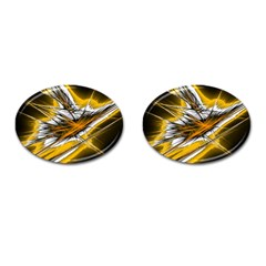 Big Bang Cufflinks (oval) by ValentinaDesign