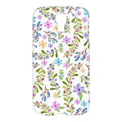 Twigs And Floral Pattern Samsung Galaxy S4 I9500/i9505 Hardshell Case by Coelfen