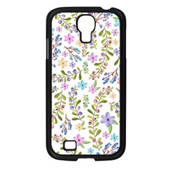 Twigs And Floral Pattern Samsung Galaxy S4 I9500/ I9505 Case (black) by Coelfen