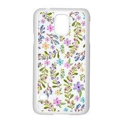 Twigs And Floral Pattern Samsung Galaxy S5 Case (white) by Coelfen