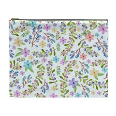 Twigs And Floral Pattern Cosmetic Bag (xl)