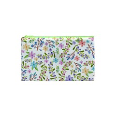 Twigs And Floral Pattern Cosmetic Bag (xs) by Coelfen
