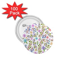 Twigs And Floral Pattern 1 75  Buttons (100 Pack)  by Coelfen