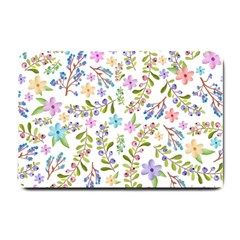 Twigs And Floral Pattern Small Doormat  by Coelfen