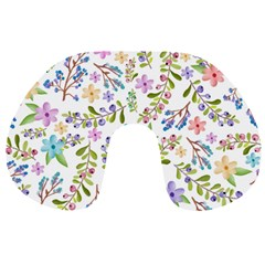Twigs And Floral Pattern Travel Neck Pillows by Coelfen