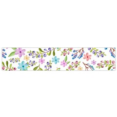 Twigs And Floral Pattern Flano Scarf (small)  by Coelfen