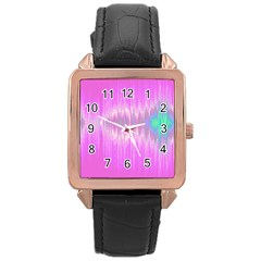 Light Rose Gold Leather Watch  by ValentinaDesign