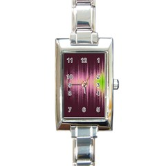 Light Rectangle Italian Charm Watch by ValentinaDesign