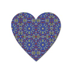 Colorful Ethnic Design Heart Magnet by dflcprints