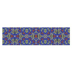 Colorful Ethnic Design Satin Scarf (oblong) by dflcprintsclothing