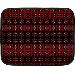 Dark Tiled Pattern Fleece Blanket (mini) by linceazul