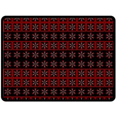 Dark Tiled Pattern Double Sided Fleece Blanket (large)  by linceazul