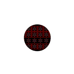 Dark Tiled Pattern 1  Mini Buttons by linceazul