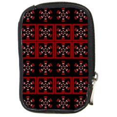 Dark Tiled Pattern Compact Camera Cases by linceazul