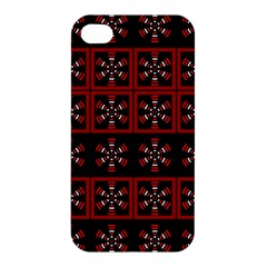 Dark Tiled Pattern Apple Iphone 4/4s Hardshell Case by linceazul