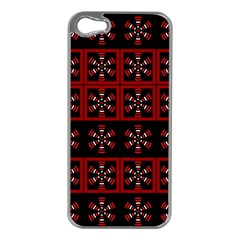 Dark Tiled Pattern Apple Iphone 5 Case (silver) by linceazul