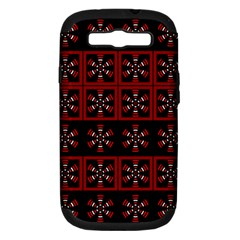 Dark Tiled Pattern Samsung Galaxy S Iii Hardshell Case (pc+silicone)