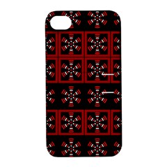 Dark Tiled Pattern Apple Iphone 4/4s Hardshell Case With Stand by linceazul