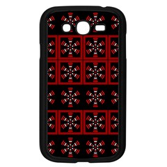 Dark Tiled Pattern Samsung Galaxy Grand Duos I9082 Case (black) by linceazul