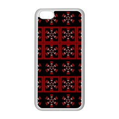 Dark Tiled Pattern Apple Iphone 5c Seamless Case (white) by linceazul