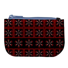 Dark Tiled Pattern Large Coin Purse by linceazul