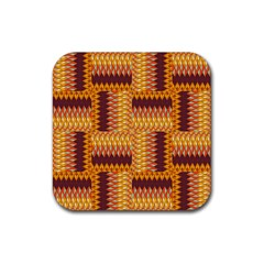 Geometric Pattern Rubber Square Coaster (4 Pack)  by linceazul