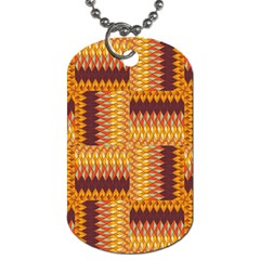 Geometric Pattern Dog Tag (two Sides) by linceazul