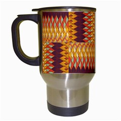 Geometric Pattern Travel Mugs (white) by linceazul