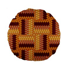 Geometric Pattern Standard 15  Premium Round Cushions by linceazul