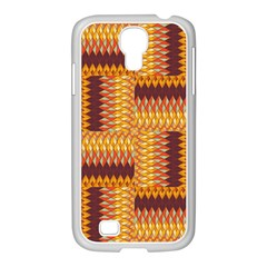 Geometric Pattern Samsung Galaxy S4 I9500/ I9505 Case (white) by linceazul