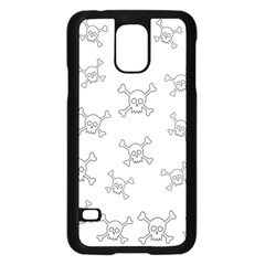 Skull Pattern Samsung Galaxy S5 Case (black) by ValentinaDesign
