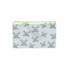Skull Pattern Cosmetic Bag (xs)