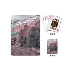 Gravel Empty Road Parque Nacional Los Glaciares Patagonia Argentina Playing Cards (mini)  by dflcprints