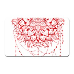 Mandala Pretty Design Pattern Magnet (rectangular)