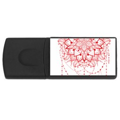 Mandala Pretty Design Pattern Usb Flash Drive Rectangular (4 Gb) by Nexatart