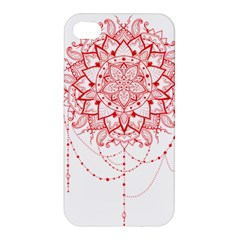 Mandala Pretty Design Pattern Apple Iphone 4/4s Hardshell Case by Nexatart
