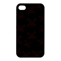 Skull Pattern Apple Iphone 4/4s Hardshell Case by ValentinaDesign
